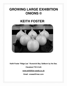 BOOKLET ON GROWING LARGE EXHIBITION ONIONS + AILSAE SEED