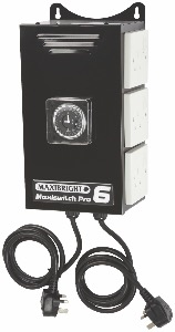 Maxibright  Pro Control Units - Time Switch 6 Sockets