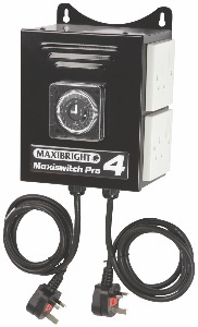 Maxibright  Pro Control Units - Time Switch 4 Sockets
